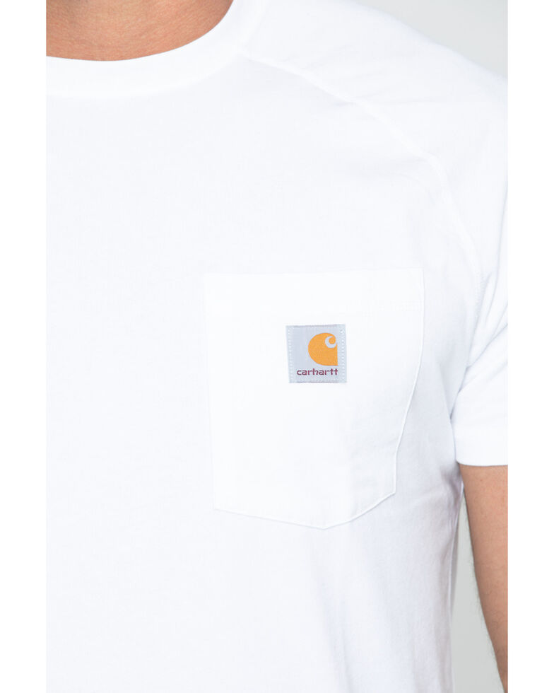 Carhartt Men's Force Cotton White Short Sleeve Shirt - Big & Tall, White, hi-res