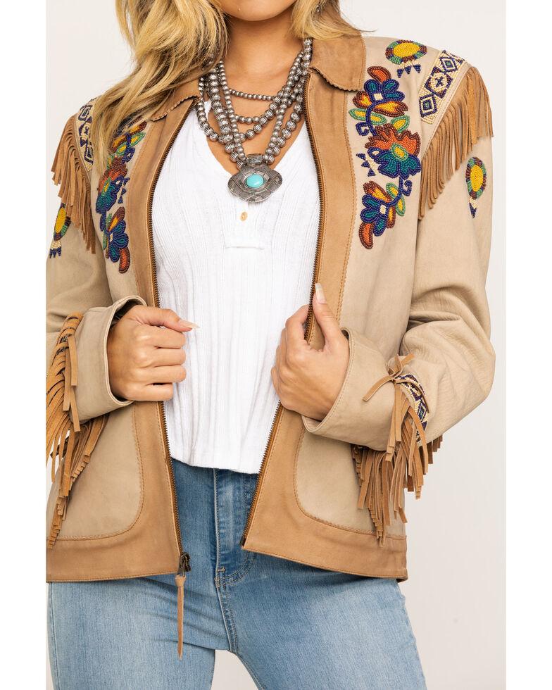 Double D Ranchwear Women's Panhandle Patsy Jacket, Tan, hi-res
