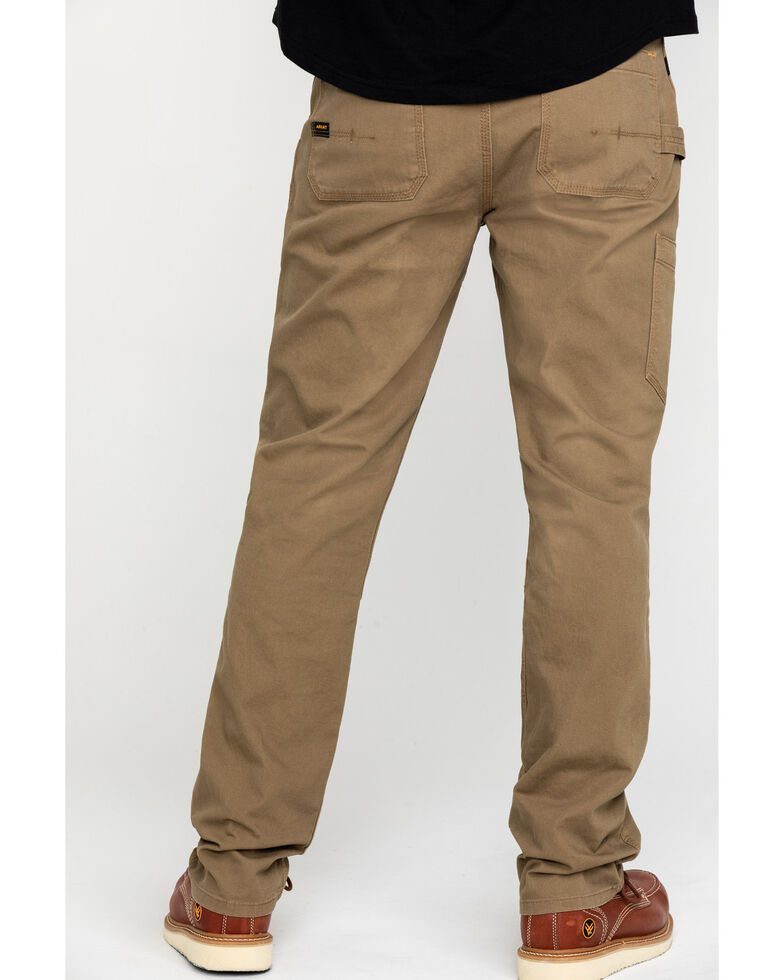 Ariat Men's Khaki Rebar M4 Made Tough Durastretch Double Front Straight Work Pants - Big , Beige/khaki, hi-res