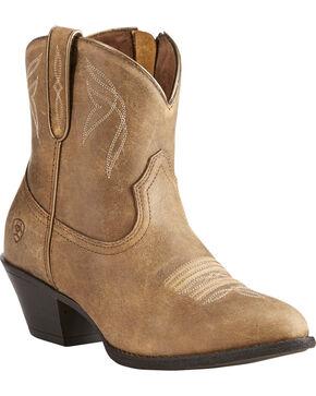 Ariat Women's Light Brown Darlin Bomber Boots - Round Toe , Lt Brown, hi-res