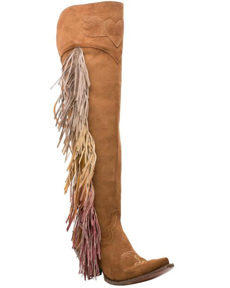Junk Gypsy by Lane Women's Spirit Animal In Suede Western Boots - Snip Toe, Brown, hi-res