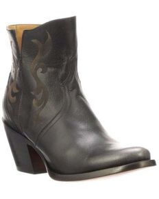 Lucchese Women's Alondra Fashion Booties - Round Toe, Black, hi-res