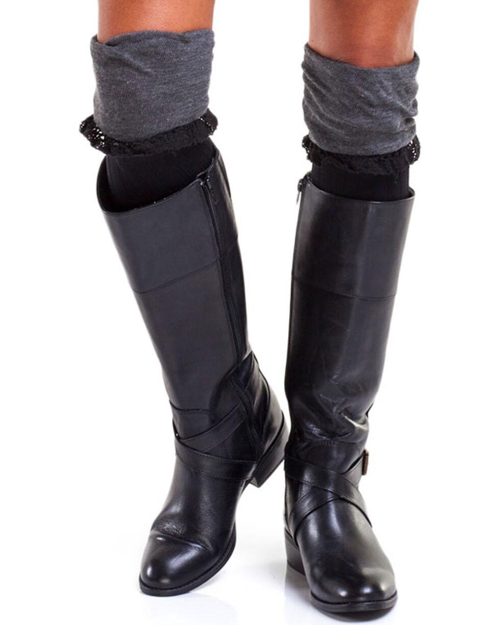 Bootights Women's Slouchy Grey Boot Socks, Heather Grey, hi-res