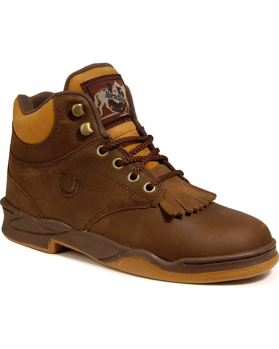 Roper Footwear Men's Horseshoe Kiltie Boots, Tan, hi-res