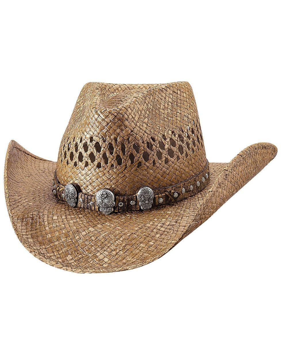 Bullhide Women's Promises Straw Hat, Pecan, hi-res