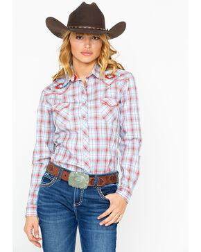 Panhandle Women's Tabor Vintage Long Sleeve Western Shirt, Multi, hi-res
