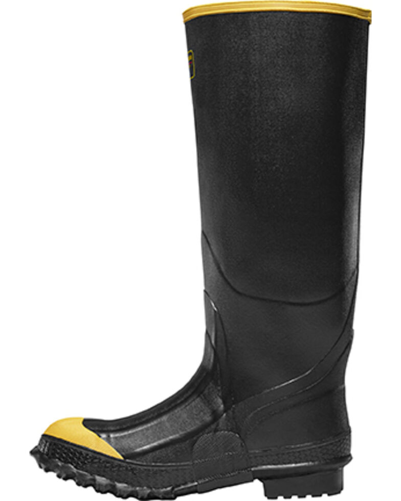 LaCrosse Men's Premium Knee Steel Toe Work Boots, Black, hi-res