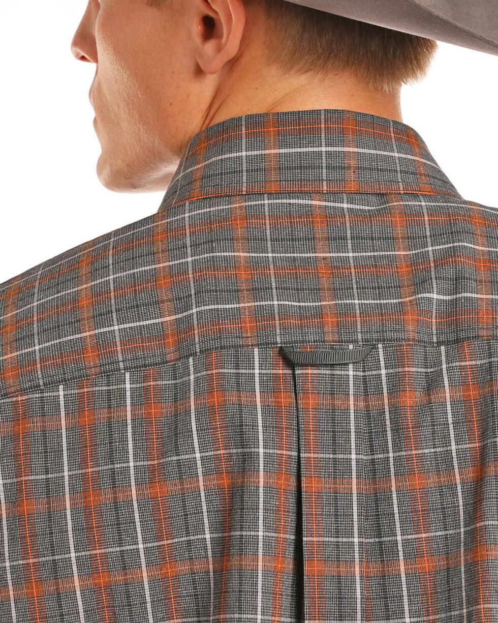 Tuf Cooper Performance Men's Orange Stretch Plaid Shirt , Orange, hi-res