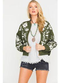 Sage the Label Women's Open Road Bomber Jacket, Olive, hi-res