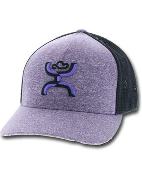HOOey Men's Coach Purple Mesh Cap, Purple, hi-res