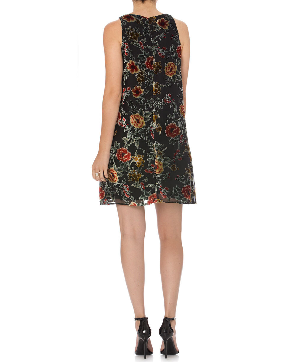 Miss Me Women's Black Electric Boom Floral Dress , Black, hi-res