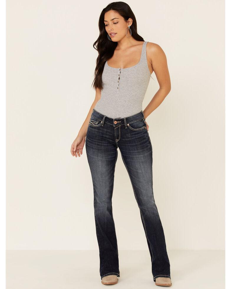 Ariat Women's Arrow Esther Bootcut Jeans, Blue, hi-res