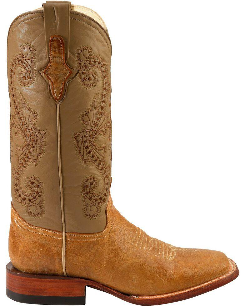 Ferrini Women's Distressed Kangaroo Square Toe Western Boots, Antique Saddle, hi-res