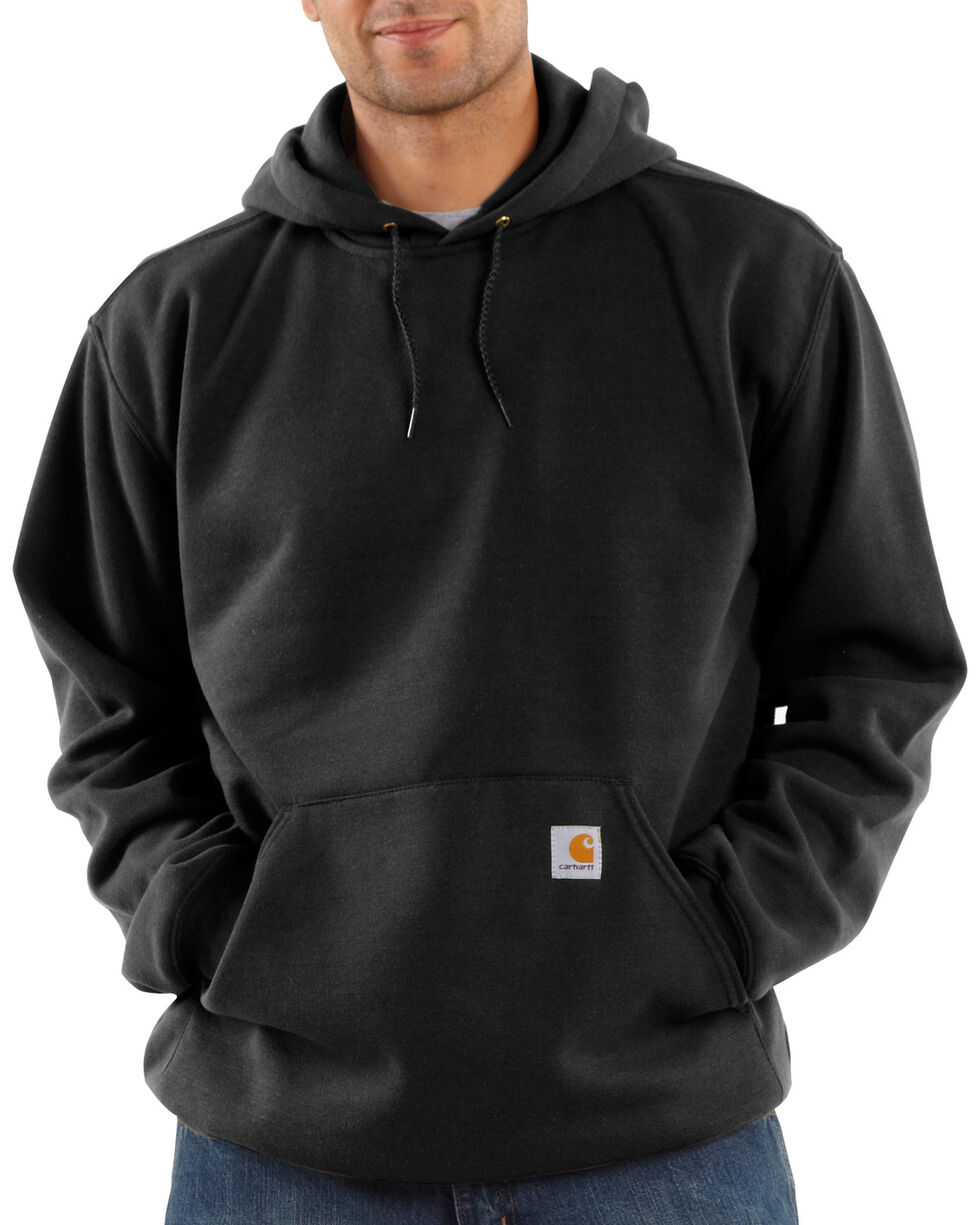Carhartt Midweight Hooded Pullover Sweatshirt, Black, hi-res