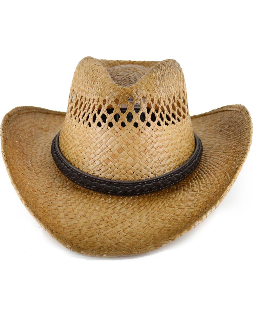 Cody James® Burnt Tan Straw Hat, Multi, hi-res