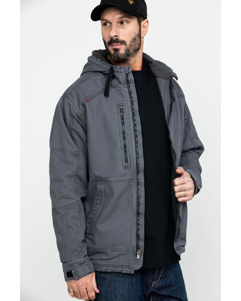Ariat Men's FR Duralight Stretch Canvas Work Jacket - Big , Grey, hi-res