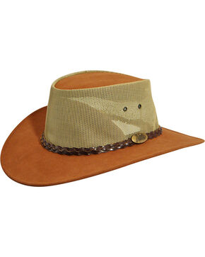 Jacaru Summer Breeze Outback Hat, Mushroom, hi-res