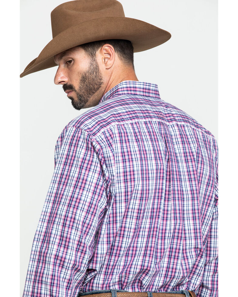 Ariat Men's Wrinkle Free Illington Small Plaid Long Sleeve Western Shirt , Multi, hi-res