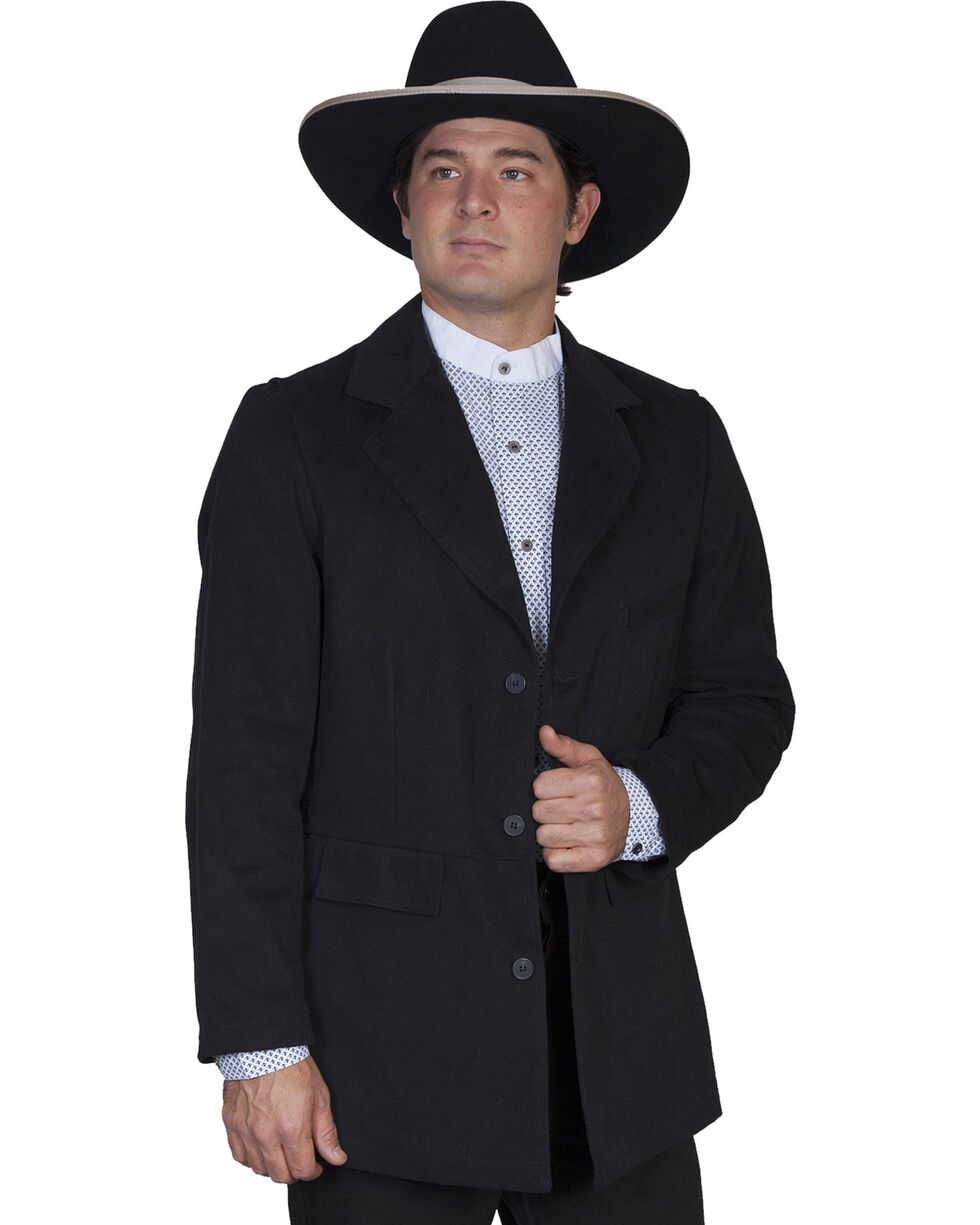 Scully Men's Old West Coat, Black, hi-res