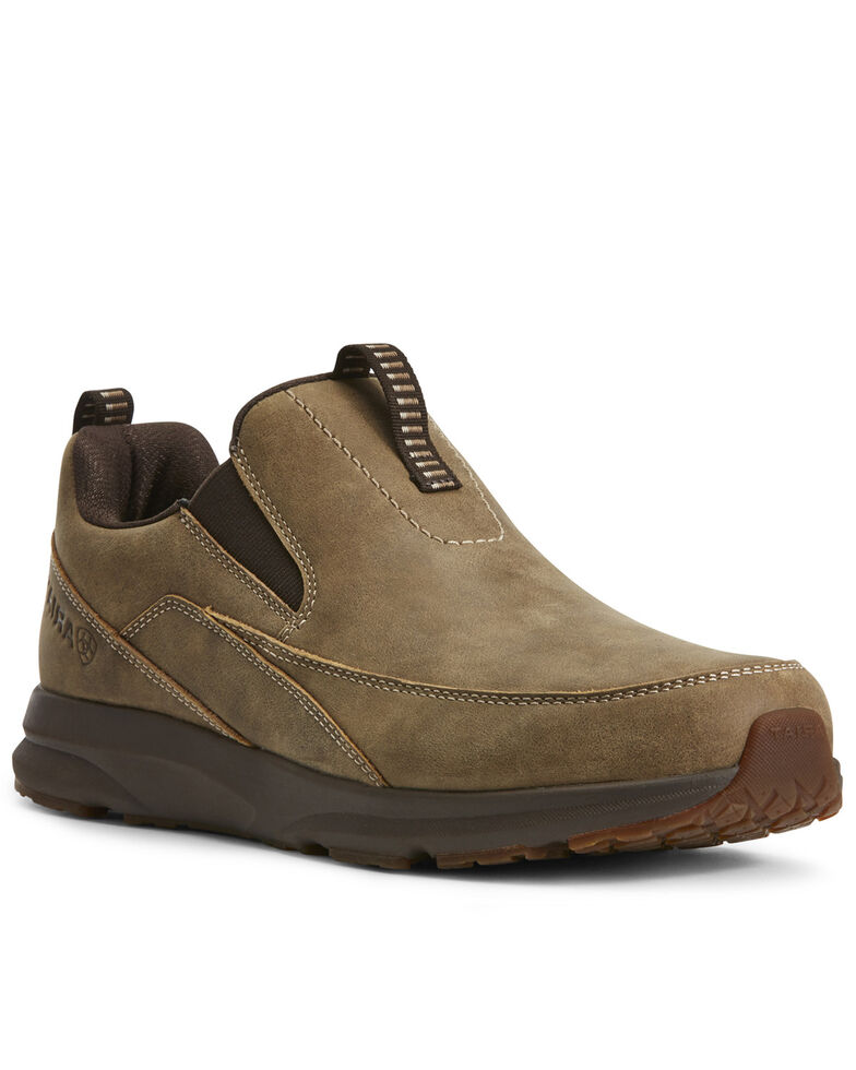 Ariat Men's Spitfire Slip-On Boots - Moc Toe, Brown, hi-res
