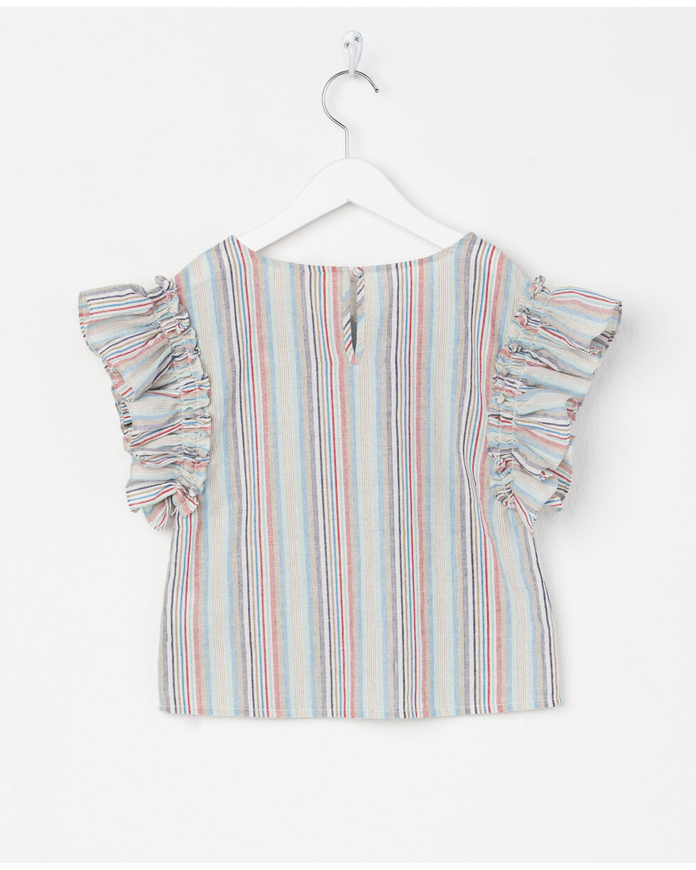 Miss Me Girls' Stripes Again Top , Multi, hi-res