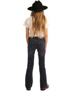 Rock & Roll Cowgirl Girls' Dark Vintage Trousers , Blue, hi-res