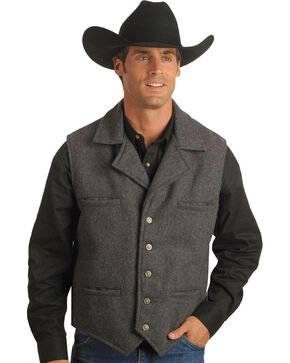 Schaefer Cattle Baron Wool Blend Vest, Charcoal Grey, hi-res