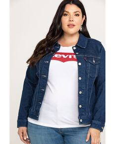 Levi's Women's Surf-Side Original Trucker Jacket - Plus, Blue, hi-res