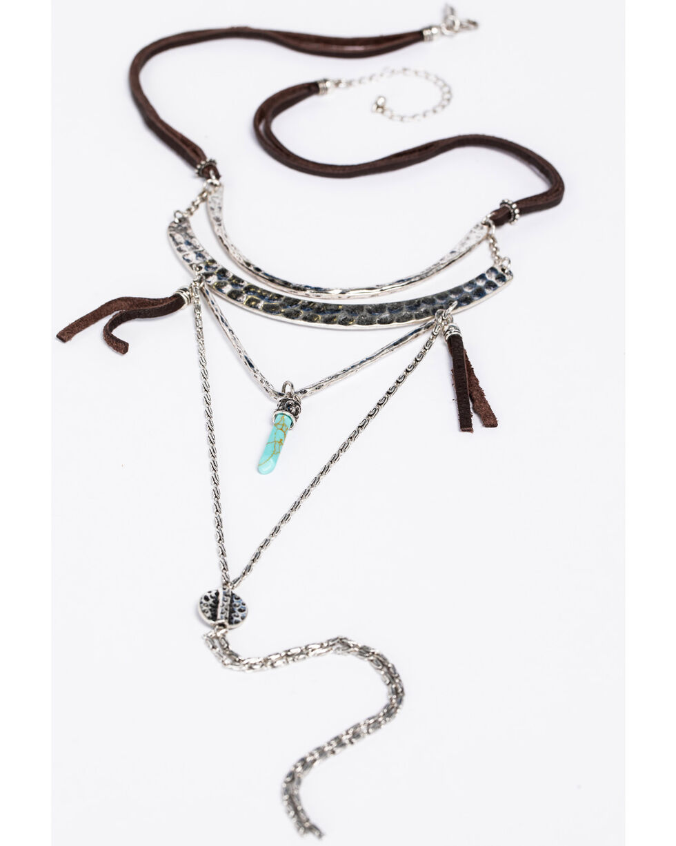 Idyllwind Women's Wild West Layered Necklace, Silver, hi-res