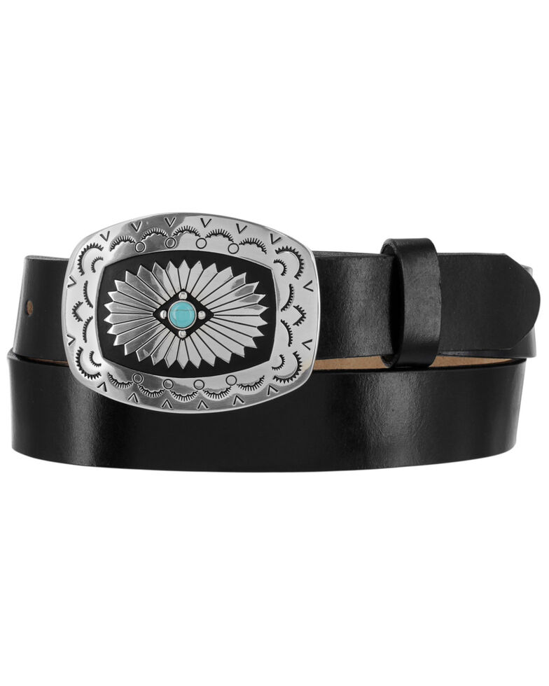 "Tony Lama Women's Santa Rosa 1 1/4"" Belt , Black, hi-res"