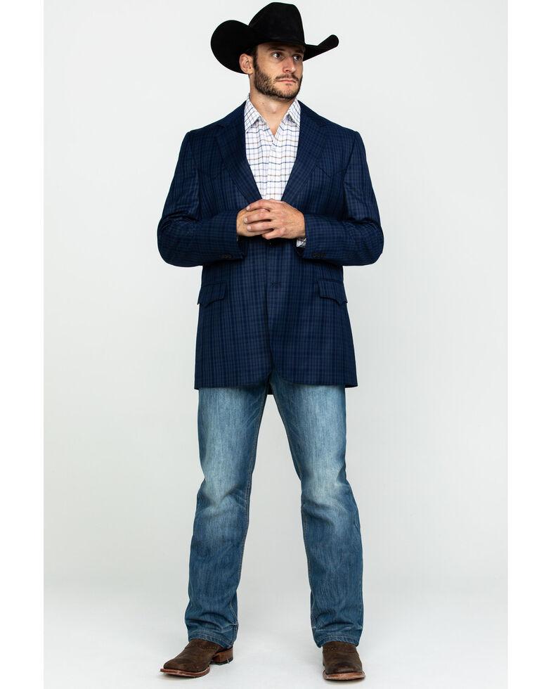 Cripple Creek Men's Window Pane Plaid Houston Sport Coat , Blue, hi-res