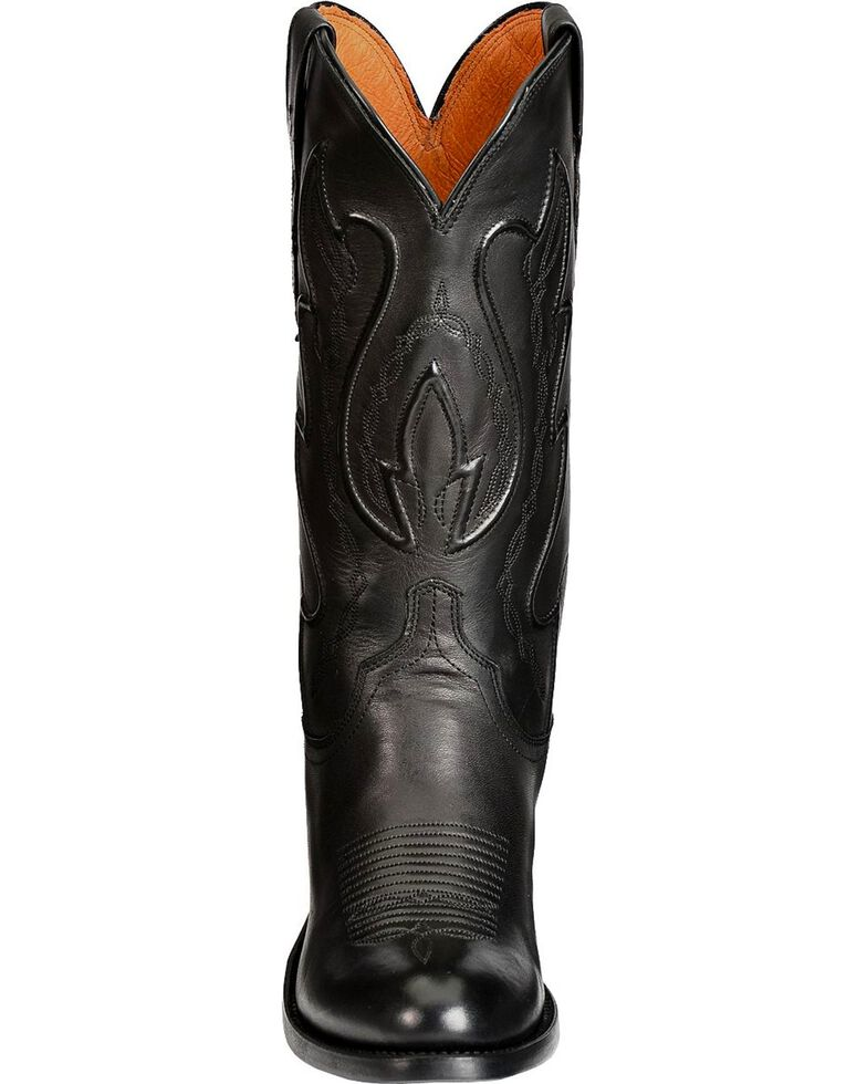 Lucchese Men's Embroidered Western Boots, Black, hi-res