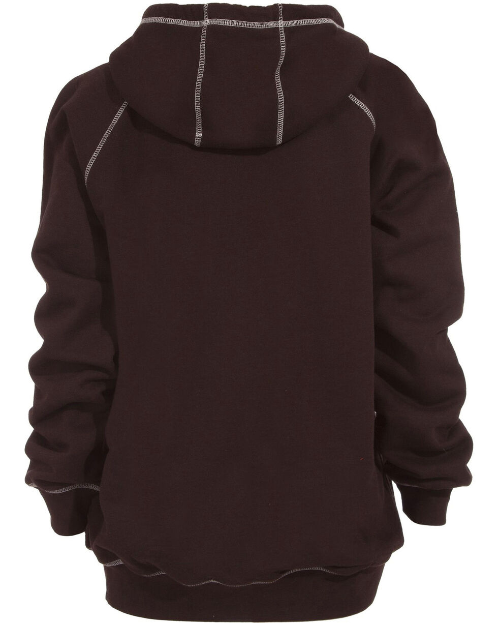 Berne Women's Zip-Front Hoodie, Dark Brown, hi-res