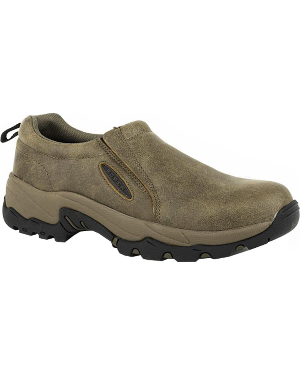 Roper Men's Air Light Performance Slip-On Casual Shoes, Tan, hi-res