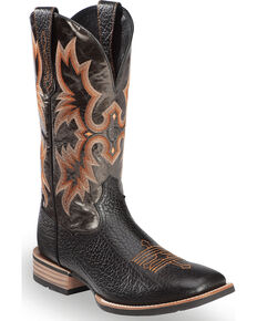 Ariat Tombstone Boots - Square Toe, Black, hi-res