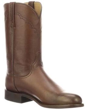 Lucchese Men's Lawrence Lonestar Western Boots - Round Toe, Brown, hi-res