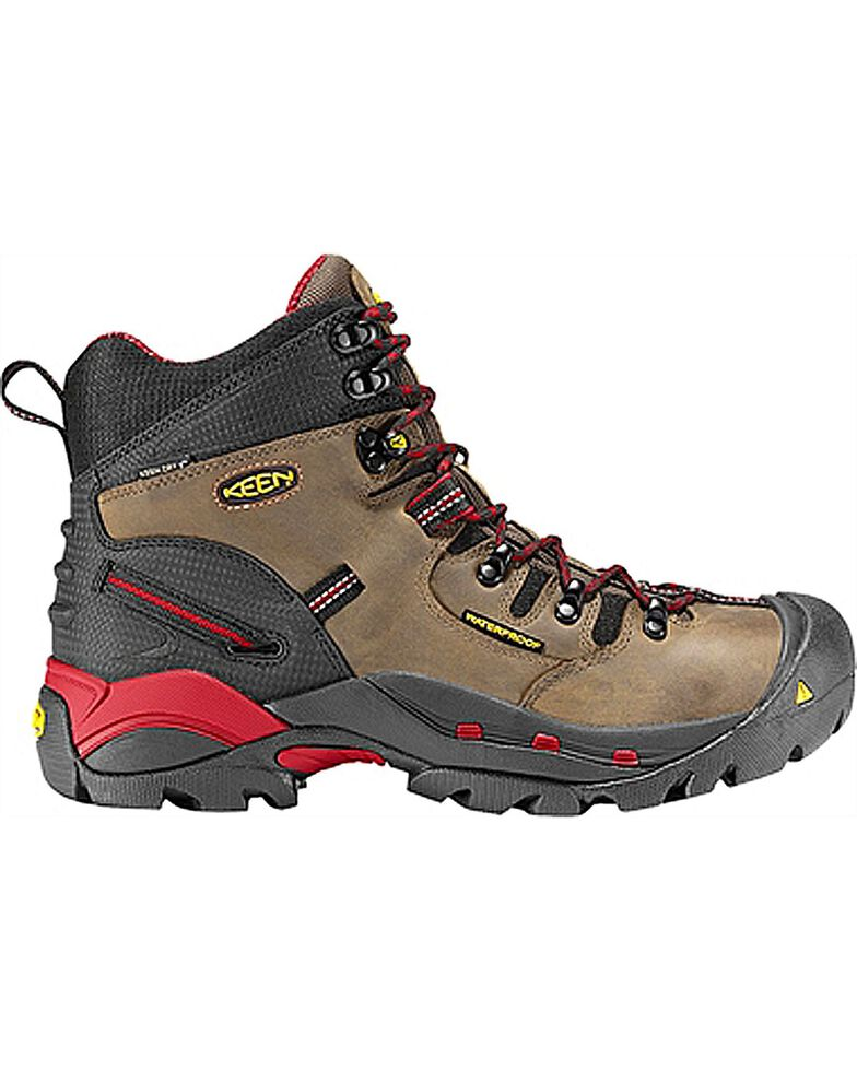 Keen Men's Pittsburgh Waterproof Steel Toe Work Boots, Bison, hi-res