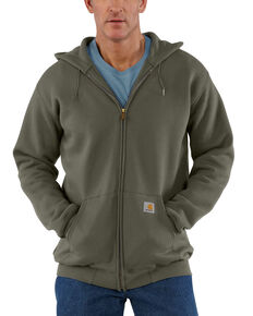 Carhartt Men's Midweight Hooded Zip-Front Sweatshirt, Moss Green, hi-res