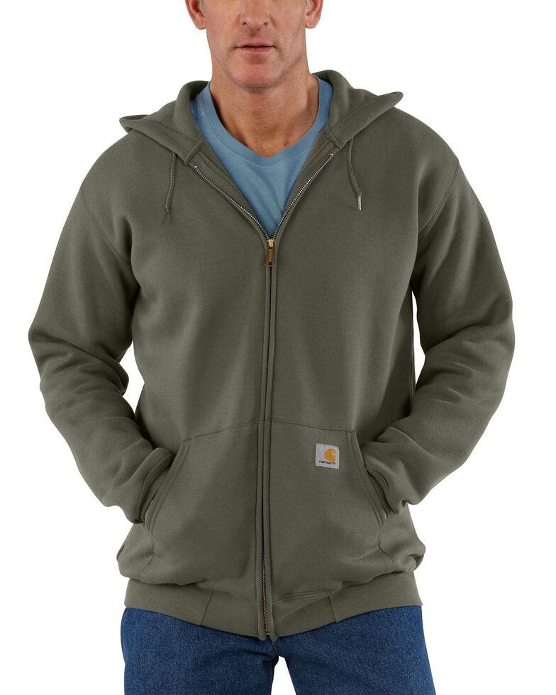 Carhartt Men's Midweight Hooded Zip-Front Sweatshirt, Moss Green, hi-res