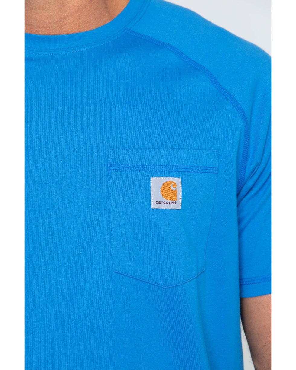 Carhartt Men's Delmont Short Sleeve T-Shirt, Light Blue, hi-res