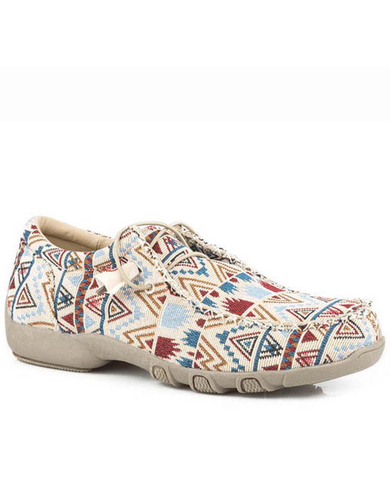 Roper Women's Chillin' Aztec Casual Shoes - Moc Toe, Tan, hi-res