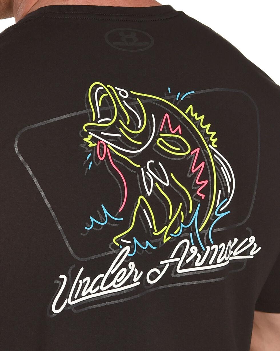 Under Armour Men's Neon Bass T-Shirt, Black, hi-res