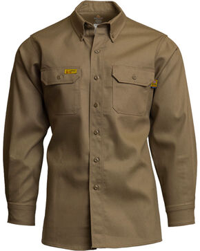 Lapco Men's FR 6oz. Gold Label Uniform Shirt, Beige/khaki, hi-res
