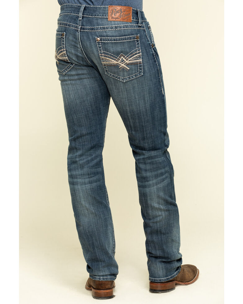 Rock 47 By Wrangler Men's Remix Stretch Slim Straight Jeans , Blue, hi-res
