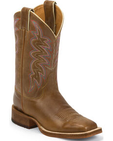 Justin Bent Rail Women's Yancey Tan Cowgirl Boots - Square Toe, Tan, hi-res