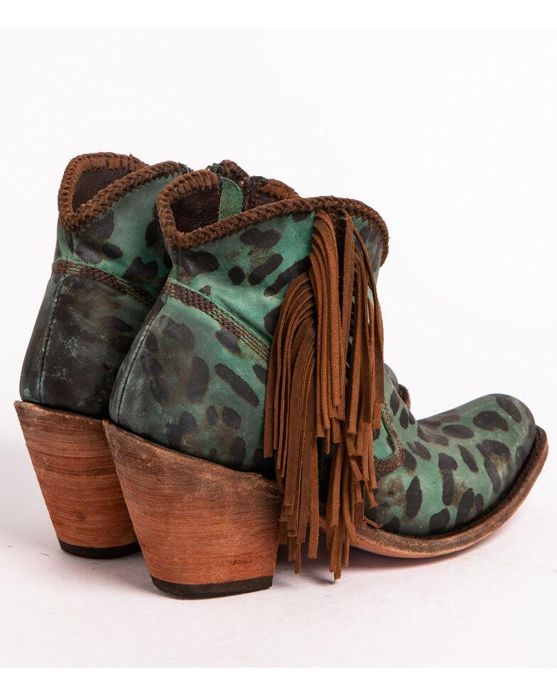 Liberty Black Women's Chita Turquesa Fringe Booties - Medium Toe , Turquoise, hi-res
