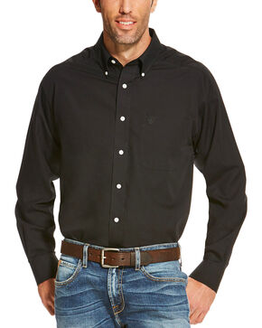 Ariat Men's Black Wrinkle Free Button Up Shirt , Black, hi-res