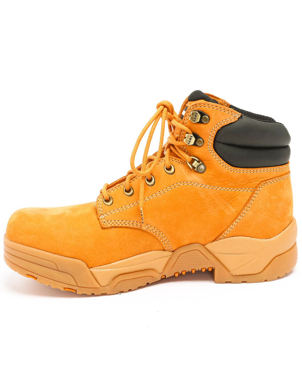 Hawx® Men's Wheat Enforcer Lace-Up Work Boots - Round Toe, Wheat, hi-res