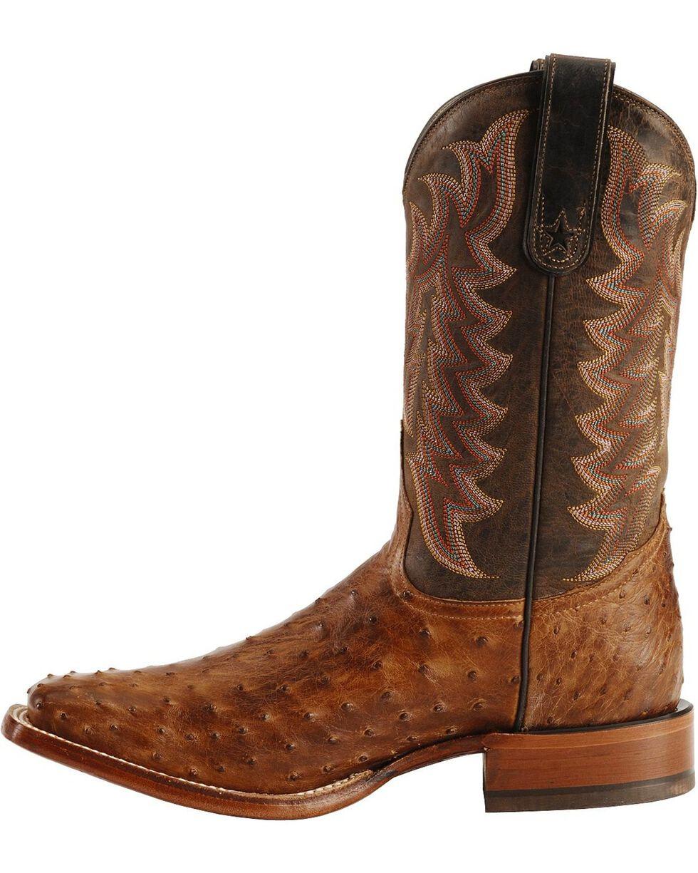 "Tony Lama Men's San Saba Full Quill Ostrich 11"" Western Boots, Chocolate, hi-res"