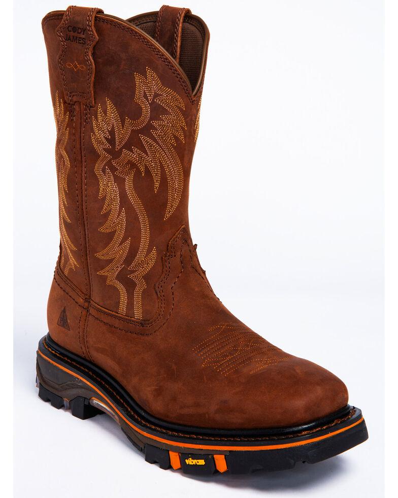 795afdeb63f Cody James Men's Decimator Top Standard Western Work Boots - Wide Square Toe